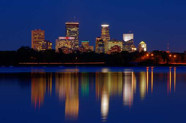 Minneapolis at Night by Chris Coward